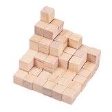 100個1/2 / 2.5cmDIY木製ブロック手工芸品工芸品教育玩具