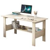 Fából készült számítógép asztali asztali munkaállomás íróasztal Diák kollégiumi laptop dolgozószoba tároló polccal otthoni irodához