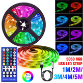 1-5M 5050 RGB USB LED Strip Light Colour Changing + 44 Keys IR Remote Control