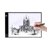 A4 luce a led Pad Tavoletta grafica digitale Pad grafico a tre livelli Dimming USB luce a led Scatola Tracciatura da tavolo Tavolo da disegno Pad