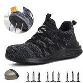 TENGOOZapatosdetrabajoLigeros,transpirables, a prueba de golpes, a prueba de pinchazos, zapatos de trabajo de seguridad para hombres