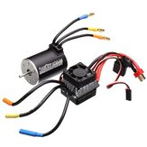 Racerstar 3650 Sensorless Brushless Waterproof Motor 60A ESC Untuk 1/10 Off-Road Truck Truggy Cars