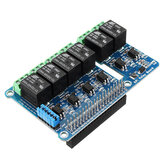 6CH 6-way Relay Expansion Board Hat Support For Raspberry Pi A+/B+/2B/3B