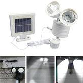 22 LED Solar Powered Double Head Motion Sensor Luminária de parede de luz branca Outdoor Security Flood Light