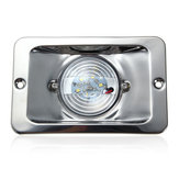 12V LED Waterproof Anchor Stern Light Embedded Marine Boat White Stainless Steel