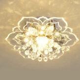 220V Crystal LED Ceiling Light Fixture Pendant Modern Lamp Home Room Lighting