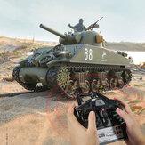 Heng Long 3898-1 2.4G 1/16 US Sherman M4A3 Модернизированные модели цистерн RC Авто