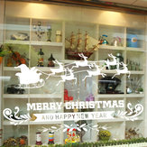Removable Merry Christmas Deer Snowflake Wall Window Sticker Decoration