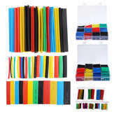 164Pcs/530Pcs/560Pcs Heat Shrink Tube Solder Seal Heat Shrink Butt Wire Connectors Terminals Waterproof
