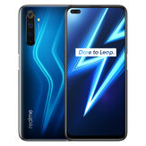 Realme 6 Pro Versão EU 6,6 polegadas FHD + 90Hz Ultra Smooth Display NFC Android 10 4300mAh 64MP AI Câmera Quad 8GB 128GB Snapdragon 720G Smartphone 4G