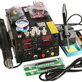 Saike 110V AC 909D+ Rework Soldering Station Hot Heat Air Nozzle DC USB Power Supply US Plug