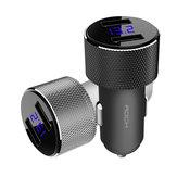 ROCK Sitor 3.4A LED Monitor Em Tempo Real Dual USB Carregador de Carro Rápido Para A Câmera Tablet Telefone Móvel