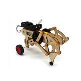 DIY STEAM RC Robot Walking Kit de jouet robot assemblé en bois