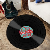 Vinyl Records Innovative Carpet Round Floor Mat Europe Fashion Retro Black Carpet Record Pattern Rug