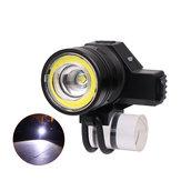 XANES®2022650LMUSBPhare5 Modes Zoom mécanique Phare de bicyclette Lampe de poche pour le camping Chasse à vélo