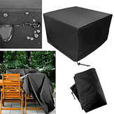 Patio Protective Furniture Cover Black Rectangular Extra Large Waterproof Dustproof Folding Table and Chair Set Cover