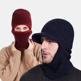 للجنسين قطعة واحدة Plus المخملية يندبروف الدفء ركوب في الهواء الطلق الرقبة حماية القبعات قبعة محبوكة