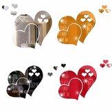 Specchio 3D Love Hearts Wall Sticker Decal DIY Home Room Art Decorazione murale rimovibile
