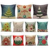 Fronhas Natal Candy Series Capa de almofada quadrada para sofá doméstico