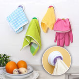 Washcloth Clip Holder Dishclout Storage Rack Kitchen Bathroom Detachable Hand Towel Hanger Hook