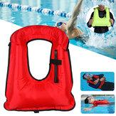 Colete salva-vidas inflável adulto colete de natação portátil para mergulho com snorkel e segurança no mergulho