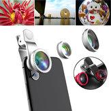 Lente de câmera olho-de-peixe macro grande angular 10X de 0,65X universal 3 in1 HD para iPhone Samsung