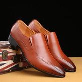 Ανδρικά αναπνεύσιμα παπούτσια Sole Pointy Toe Solid England Style Casual Dress
