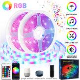 15 / 20M 12V musique Sync WiFi App Remote RGB LED Strip Lights pour chambres Bar DC Kits étanche