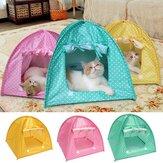 Mascota plegable Gato Tienda de campaña Jugar cama Casa Kitty Camp Impermeable al aire libre Perro Perrera