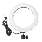 7.9インチRGBWフルカラーLEDリングライト写真Selfie MackupフィルライトYoutubeライブ放送携帯電話カメラ写真
