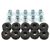 10pcs Motorcycle Rubber Grommets Bolt For Honda/Yamaha/Suzuki/Kawasaki Fairings