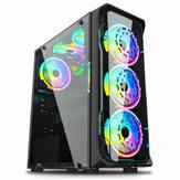Bilgisayar PC Kılıf Şeffaf Cam ATX M-ATX CPU SPCC Çelik Kap RGB Oyun Kılıf Fanlar olmadan Kule Radyatör