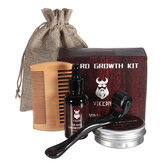 Beard Growth Kit Barber Cabelo Growth Nourishing Essential Óleo Facial Beard Care