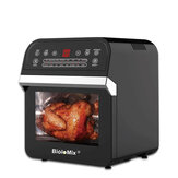 BioloMix 12L 1600W Air Fryer Oven Toaster Rotisserie and Dehydrator with LED Digital Screen, 16-in-1 Countertop Oven