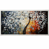 1 Piece Modern Abstract Wall Decorative Paintings Flower Tree Canvas Print Art Pictures Frameless Wall Hanging Decorations for Home Office