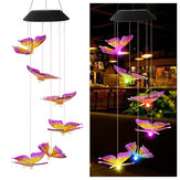 Farbwechsel LED Solar Light Outdoor Kolibri Wind Glockenspiel Lampe Yard Garden Decor