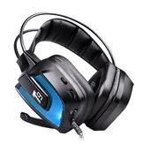 T9 50mm Sürücü LED Telefon PC Bilgisayar için Mikrofonlu Titreşimli Oyun Kulaklığı Kulaklık