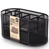 Deli Metal Mesh Desk Storage Box Multi-function 9 Grid Combination Pencil Holder Pen Stand de chaîne écologique