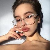 Kobiety Mężczyźni Okrągłe Okulary w stylu Okulary Okulary Bezbarwne