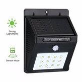 Solar Power Garden Light 12LED Motion Sensor Wall Light Auto Waterproof Outdoor Lamp