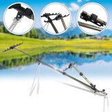 Aluminum Alloy Fishing Rod Holder Adjustable Retractable Fishing Pole Ground Stand Rod Bracket for Outdoor Fishing