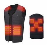 Original              Unisex 9-Heating Zones Electric Vest Heated Jacket USB Warm Up Winter Body Racing Coat Thermal