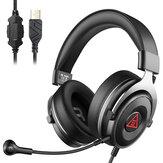 EKSA E900Plus Gaming Headset Virtual 7.1 Surround Sound ENC Noise Reduction Detachable Mic Headphone Gamer for PS4 Laptop PC