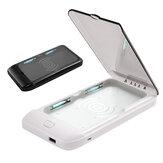 Bakeey Smart Phone multifunzionale ricarica wireless UV sterilizzatore per telefono cellulare MP3 Face Maschera anelli braccialetto sterilizzazione disinfezione