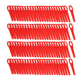 100Pcs Red Plastic Blades For Grass Trimmer Strimmer Lawnmower