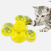 Rotating Three Head Windmill Cat Toy Scratching Hair Pet Cat Interactive Toy