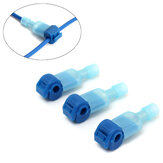 Excellway® 100PCS Blue Fast Splice Wire Terminals & Male Spade Connector 2.5-4.0mm² 16-14AWG