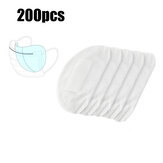 200Pcs 3-Lagen-Masken Einwegpads PM2.5 Filtermatte Anti Dust Haze Atmungsaktive Mundgesichtsmaske Ersatzdichtung