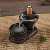 Rückfluss-Weihrauch-Kegel-Brenner-Halter-keramische Steinmühle-wohlriechender Rauch Rückfluss-Räuchergefäß-Dekor