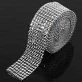 Wedding Diamond Mesh Roll Sparkle Rhinestone Crystals Ribbon Decor